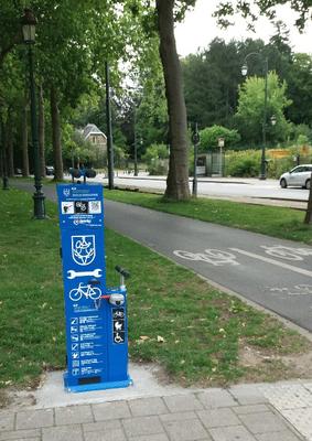 Nouveau : une borne de réparation vélo